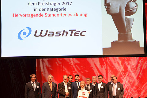 "WashTec is the winner of the ""Factory of the Year"" competition in the ""outstanding site development"" category."